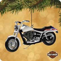 2002 Harley Davidson #4 - Super Glide - MNT Hallmark Ornament