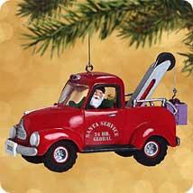 2002 Here Comes Santa #24 - Tow Truck - SDB Hallmark Ornament