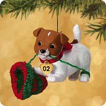 2002 Puppy Love #12 Hallmark Ornament