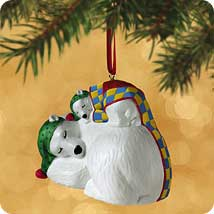 2002 Safe And Snug #2 - Polar Bears Hallmark Ornament