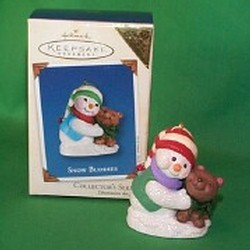 2002 Snow Buddies #5 - Bear - Colorway - MIB Hallmark Ornament