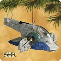 2002 Star Wars - Slave I Starship Hallmark Ornament