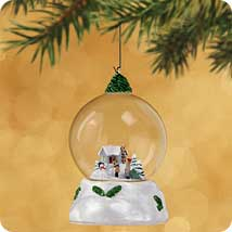 2002 Winter Wonderland #1 - Bringing The Tree Hallmark Ornament