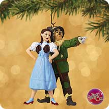 2002 Wizard Of Oz - Dorothy And Scarecrow - MNT Hallmark Ornament