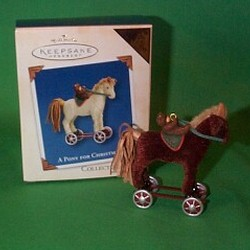 2003 A Pony For Christmas #6 - Colorway - MIB Hallmark Ornament