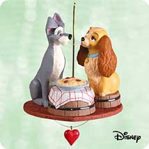 2003 Disney - Lady And Tramp Spaghetti Hallmark Ornament