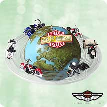 2003 Harley - Around The World - MNT Hallmark Ornament