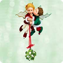 2003 Mistletot Fairies Hallmark Ornament