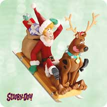 2003 Scooby-doo - Sled Hallmark Ornament