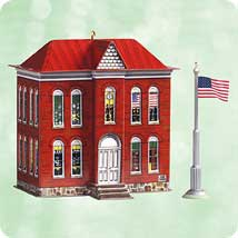 2003 Town And Country #5 - School House - DB Hallmark Ornament