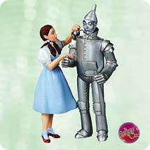 2003 Wizard Of Oz - Dorothy And Tin Man - MNT Hallmark Ornament