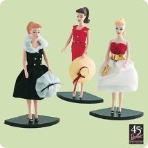2004 Barbie - Set Of 3 Hallmark Ornament