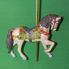 2004 Carousel Horse - White - NB Hallmark Ornament