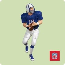 2004 Football #10 - Peyton Manning - MNT Hallmark Ornament