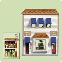 2004 Nostalgic Houses #21 - Barber Shop Hallmark Ornament