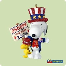 2004 Spotlight On Snoopy #7 - The Winning Ticket Hallmark Ornament