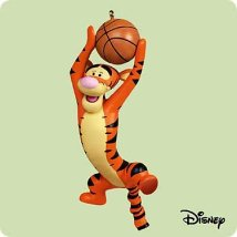 2004 Winnie The Pooh - Tigger Basketball Hallmark Ornament