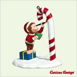2005 Curious George Hallmark Ornament