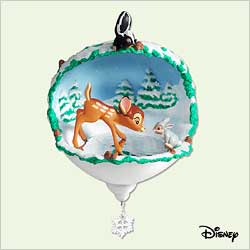 2005 Disney - Bambi - Skating Lesson Hallmark Ornament