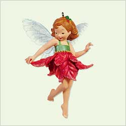 2005 Fairy Messengers 1 - Poinsettia Hallmark Ornament