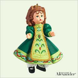 2005 Madame Alexander #10 - Sweet  Irish Dancer Hallmark Ornament
