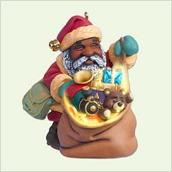 2005 Santa's Magic Sack - Af Hallmark Ornament