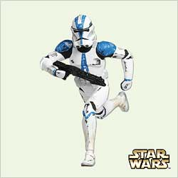 2005 Star Wars - Clone Trooper Lt Hallmark Ornament