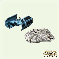 2005 Star Wars - Miniatures - Set Of 2 Hallmark Ornament
