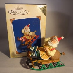 2005 Toymaker Santa #6 - Colorway - MIB Hallmark Ornament