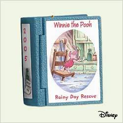 2005 Winnie The Pooh - Book #8 - Rainy Day Rescue Hallmark Ornament