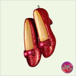 2005 Wizard Of Oz - Ruby Slippers - Club - NB Hallmark Ornament