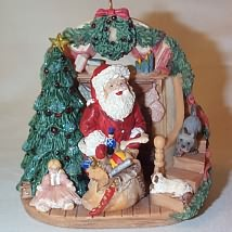 2006 A Glimpse Of Santa Hallmark Ornament