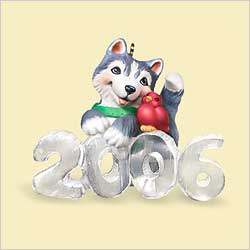 2006 Cool Decade #7 - Husky Hallmark Ornament