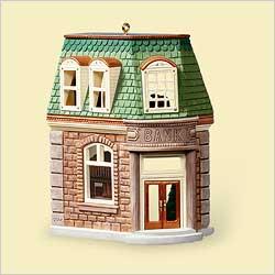 2006 Nostalgic Houses  #23 - Bank Hallmark Ornament