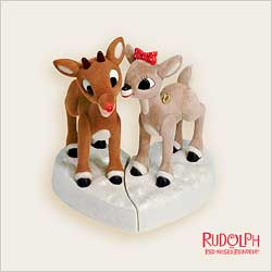 2006 Rudolph And Clarice - Lighted Hallmark Ornament