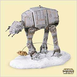 2006 Star Wars - Imperial At-at And Rebel Hallmark Ornament