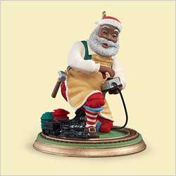 2006 Toymaker Santa - Af Amer Hallmark Ornament
