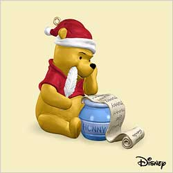 2006 Winnie The Pooh - Pooh's Christmas List Hallmark Ornament