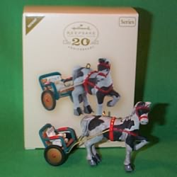 2007 A Pony For Christmas #10 - Colorway - MIB Hallmark Ornament