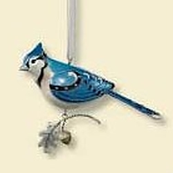 2007 Beauty Of Birds #3 - Blue Jay Hallmark Ornament