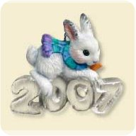 2007 Cool Decade #8 - Rabbit Hallmark Ornament