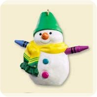 2007 Crayola Snowman - Colorway - MIB Hallmark Ornament