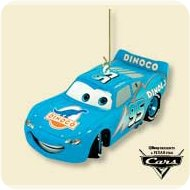 2007 Disney - Blue Lightning - Cars Hallmark Ornament