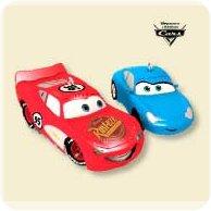 2007 Disney - Cars - Lightning And Sally Hallmark Ornament