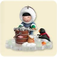 2007 Frosty Friends #28 - Ice Cream Hallmark Ornament