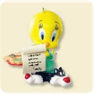 2007 Lt - Chwistmas List - Tweety Hallmark Ornament