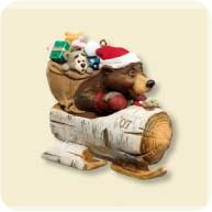 2007 Nick And Christopher #4 - Sledding - MNT Hallmark Ornament
