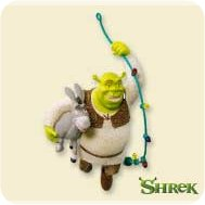 2007 Shrek - Deck The Swamp Hallmark Ornament