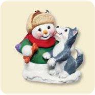 2007 Snow Buddies #10 - Husky Hallmark Ornament