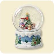 2007 Snow Buddies - Snow Globe Hallmark Ornament